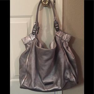 Burberry Nickel Covington Large Tote Bag.